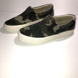 Restricted Camo Slip On Sneaker-Sz 8